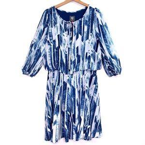 Vince Camuto Blue White Plus Size Career Dress